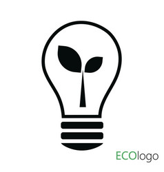 logo green energy logo with sprout and vector image