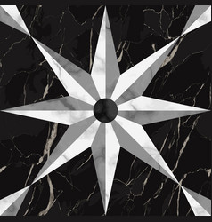 luxury marble mosaic star sign seamless pattern vector image