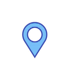 map pointer location related logo icon vector image