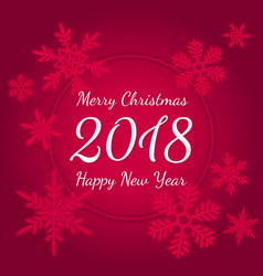 Merry christmas and happy new year 2018 greeting vector