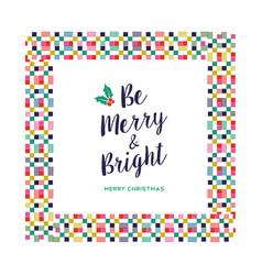 Merry christmas festive color decoration card vector