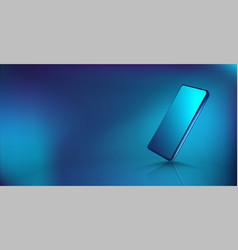 modern smartphone mockup vector image