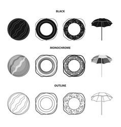 Multicolored swimming circle blackmonochrome vector