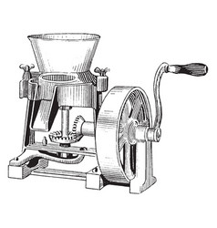 Paint mill vintage vector