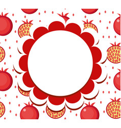 Pomegranate label wrapper template for your vector