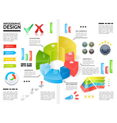 realistic colorful infographic template vector image