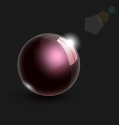 realistic glass ball with bokeh 3d vector image