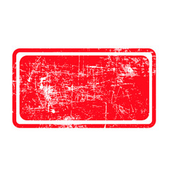 Red rectangular grunge stamp with blank siolated vector