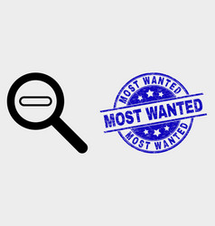 Reduce scale icon and distress most wanted vector
