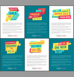 Sale special offer posters vector