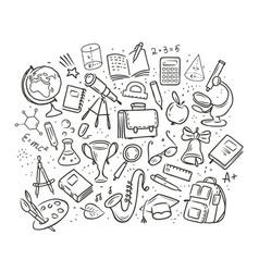 school education concept hand drawn vector image