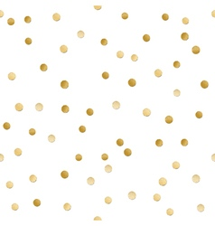 Seamless scattered shiny golden glitter polka dot vector image