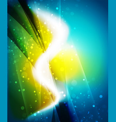 Shiny wave magicabstract background vector