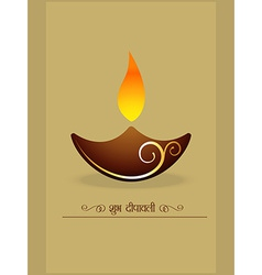 Simple diwali diya vector