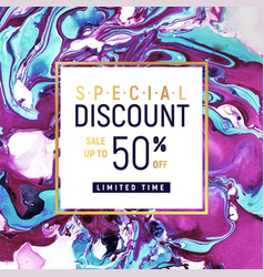 Special discount square banner template vector