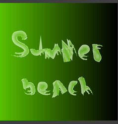 summer beach on a green background vector image