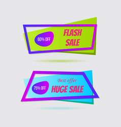 super sale banner set vector image