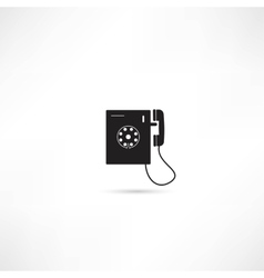 Telephone icon isolated vector image