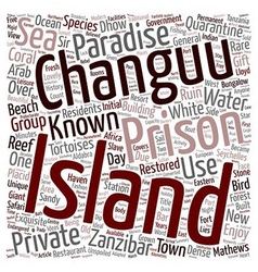 The charm of changuu prison island text background vector