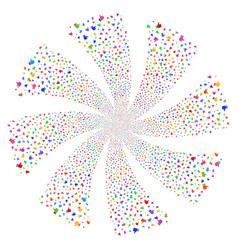thumb up fireworks swirl flower vector image