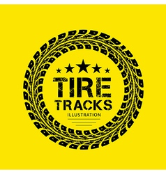 Tire Track 04 vector