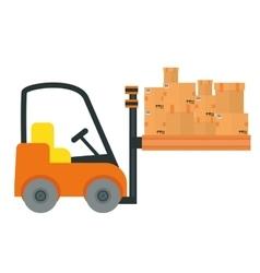 Transport logistics design vector