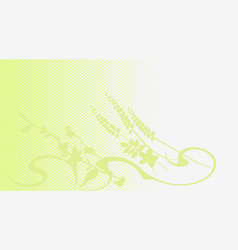 Twisting creeper green background banner vector
