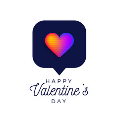 valentine rainbow heart like counter comment vector image