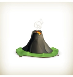 Volcano icon vector
