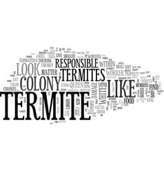 What does a termite look like text word cloud vector