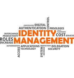 word cloud identity management vector image