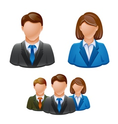 Business people avatar people icon vector image vector image