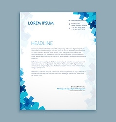 business style corporate letterhead design vector image vector image