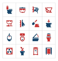 Set color icons of toilet vector image vector image