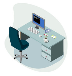 workplace concept isometric vector image