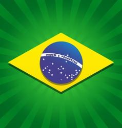 Brazil bursting flag logo vector image vector image