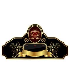 decorative gold frame label vector image vector image