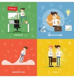 Start a new business with innovation vector