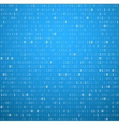 Binary background with blue digits vector image