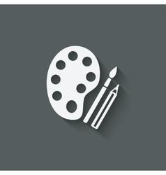 brush palette pencil art symbol vector image