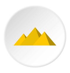 egyptian giza pyramids icon circle vector image vector image
