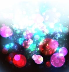 Magic Lights Bokeh Blurred Background vector image