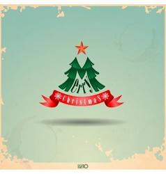 Merry Christmas Christmas Tree vector image