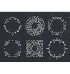 set of monogram frames circles Vintage vector image