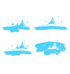 winter landscape drawing brush vector image vector image