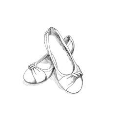 ballerina shoes vector image