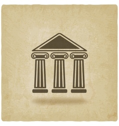 Building with columns old background vector
