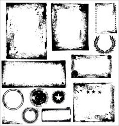 Grunge frames and corners vector