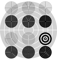 stencils of targets first variant vector image vector image