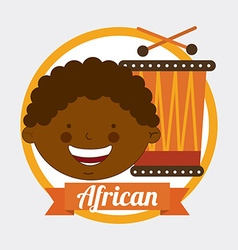 african kid vector image